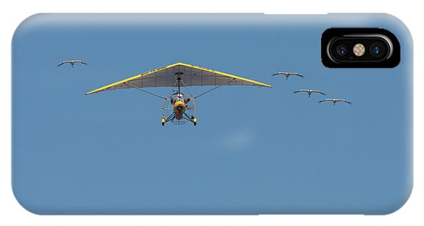 Whooping Cranes And Operation Migration Ultralight IPhone Case