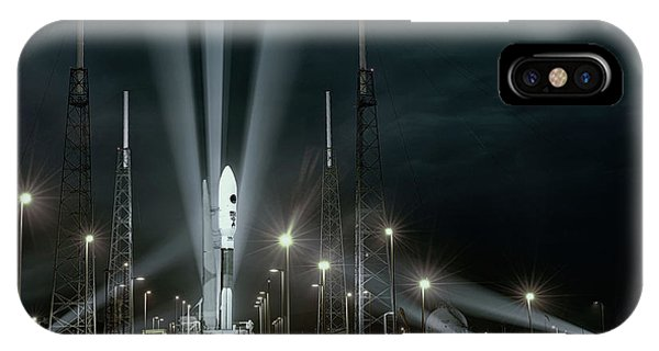 International Space Station iPhone Case - Why Do Rockets Launch At Night  by OLena Art - Lena Owens