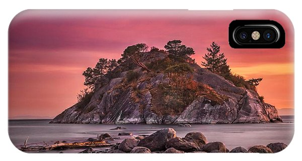 Whytecliff Island Sunset IPhone Case