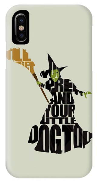 Wizard iPhone X / XS Case - Wicked Witch Of The West by Inspirowl Design