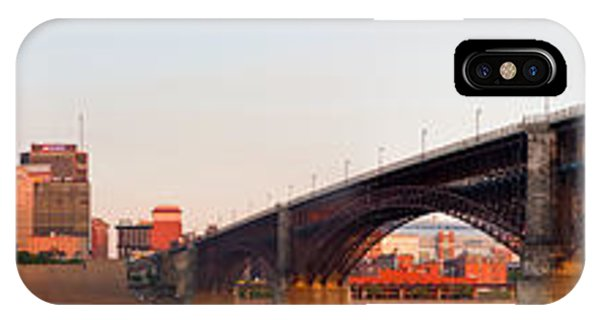Wide View Of St Louis And Eads Bridge IPhone Case