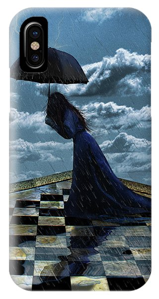 Widow In The Rain IPhone Case