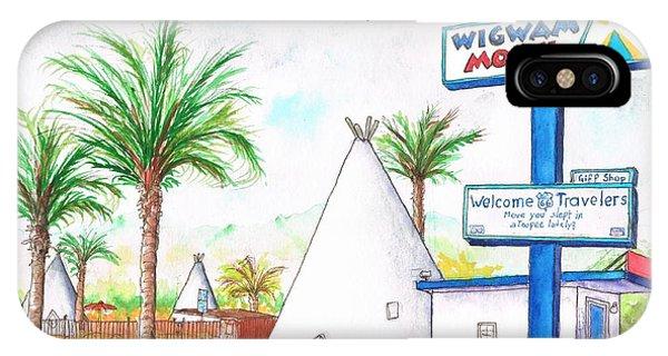 Wigman Motel, Route 66, San Bernardino, Ca IPhone Case