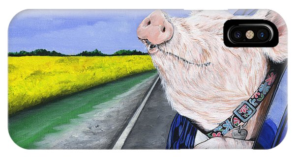 Pig iPhone Case - Wilbur by Twyla Francois