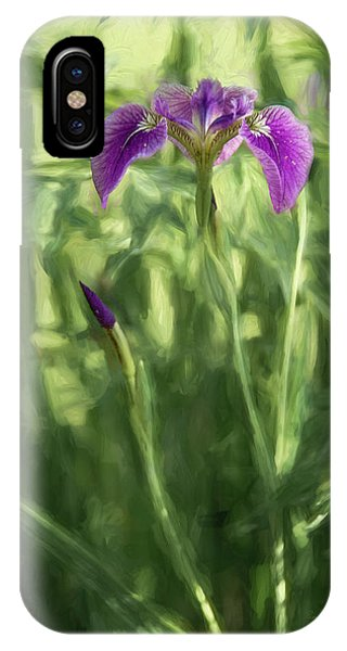 IPhone Case featuring the photograph Wild Alaskan Iris II by Penny Lisowski