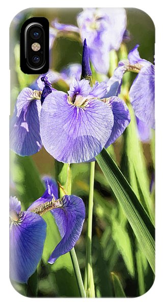 IPhone Case featuring the photograph Wild Alaskan Irises IIi by Penny Lisowski