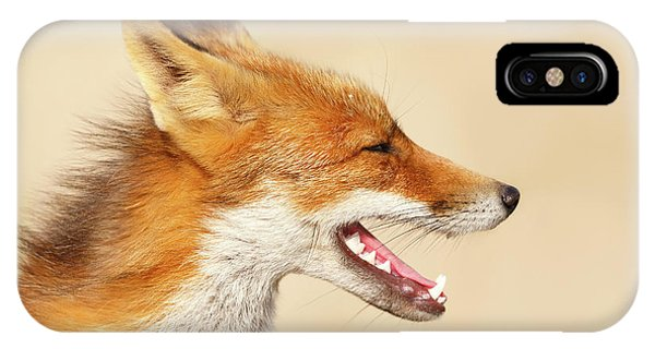 Wild And Free - Fox Portrait IPhone Case
