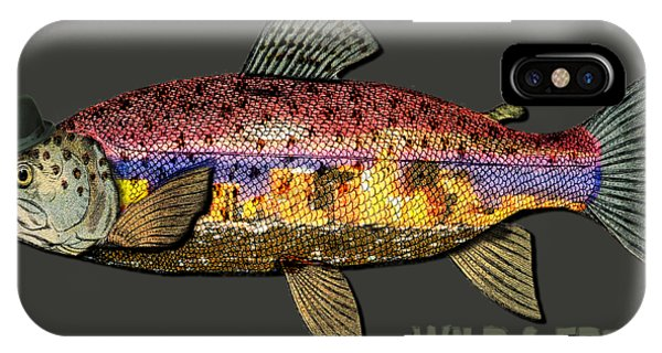 Wild And Free In Anchorage-trout With Hat IPhone Case