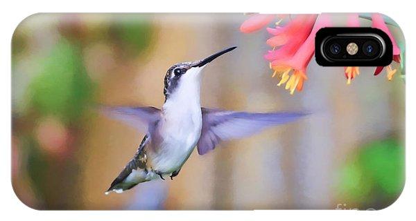 Wild Birds - Hummingbird Art IPhone Case