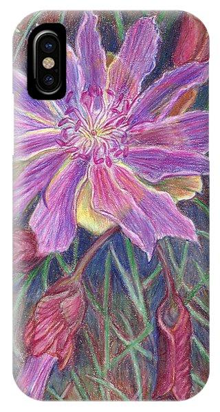 Wild Bitterroot Flower IPhone Case