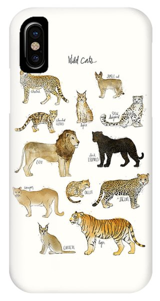 Cute iPhone Case - Wild Cats by Amy Hamilton