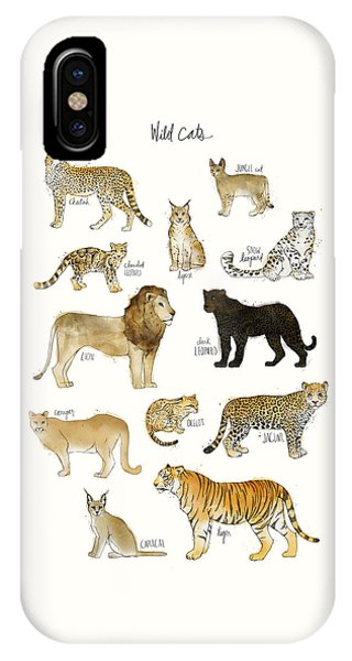 Fauna iPhone Case - Wild Cats by Amy Hamilton