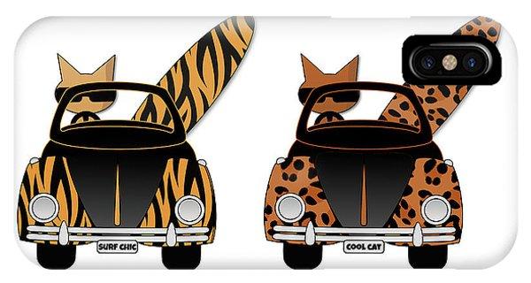 Wild Cats Go Surfing IPhone Case
