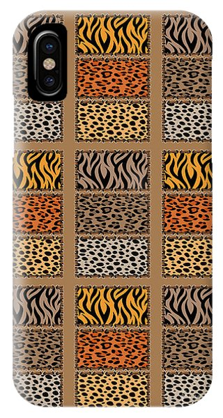 Wild Cats Patchwork IPhone Case