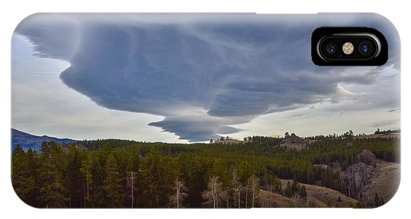 Wild Clouds In The Mountains IPhone Case