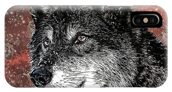 Wild Dark Wolf IPhone Case