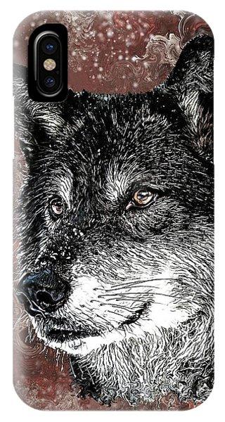 Wild Dark Wolf IPhone Case