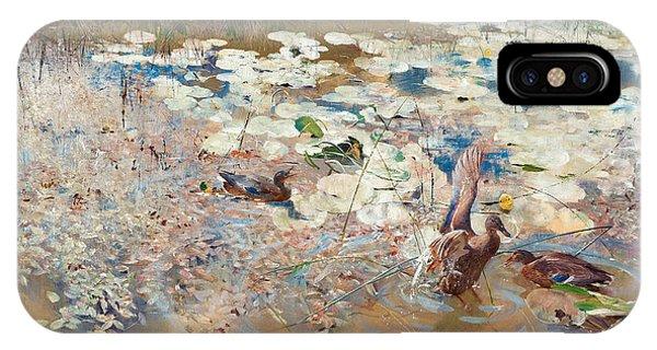 Swedish Painters iPhone Case - Wild Ducks by Bruno Liljefors