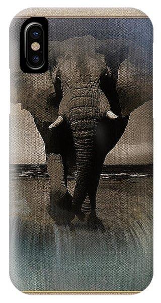 Wild Elephant Montage IPhone Case