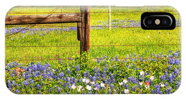 Wild Flowers And A Fence IPhone Case