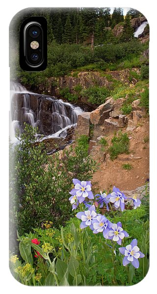 Wild Flowers And Waterfalls IPhone Case