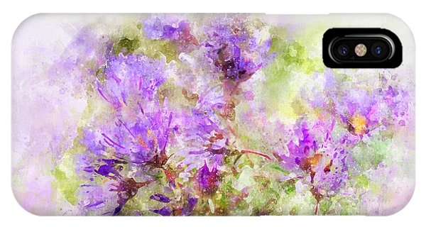 Wild Flowers In The Fall Watercolor IPhone Case