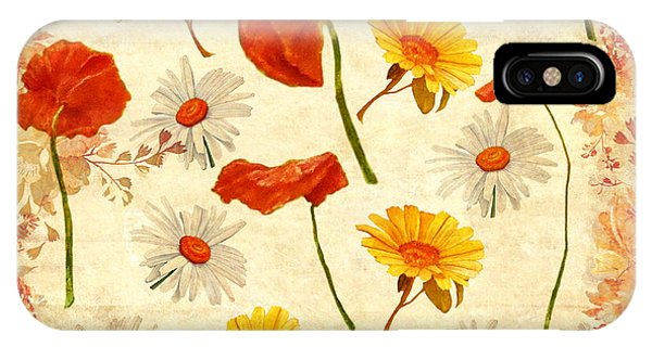 Wild Flowers Vintage IPhone Case