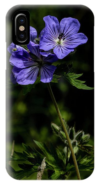 IPhone Case featuring the photograph Wild Geraniums by Fred Denner