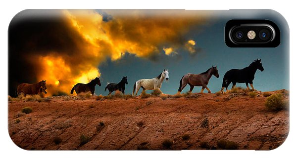 Wild Horses At Sunset IPhone Case