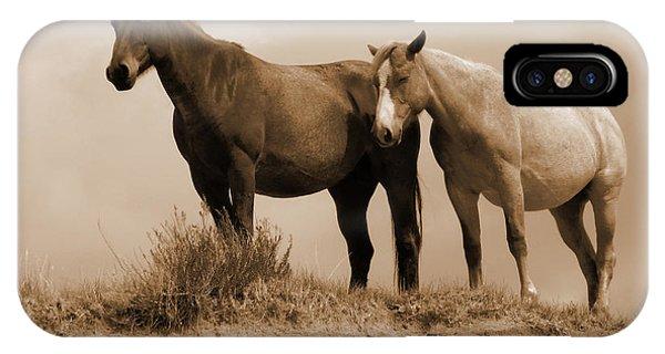 Wild Horses In Western Dakota IPhone Case