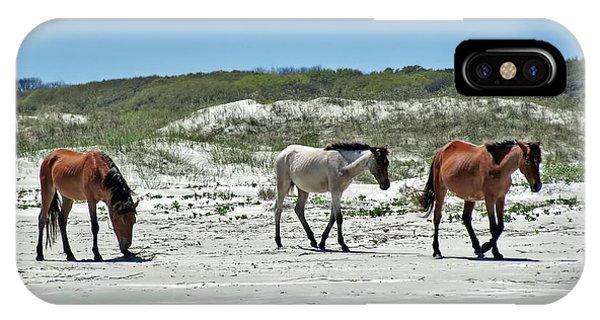 Wild Horses On The Beach IPhone Case
