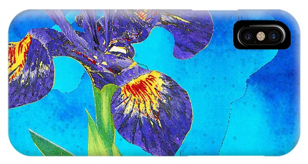 Wild Violet iPhone Case - Wild Iris Art By Sharon Cummings by Sharon Cummings