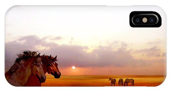 Wild Moorland Ponies IPhone Case