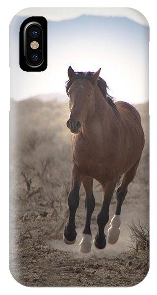 Wild Mustang Stallion Running IPhone Case