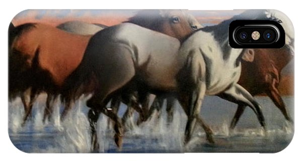 Wild Mustangs Of The Verder River IPhone Case