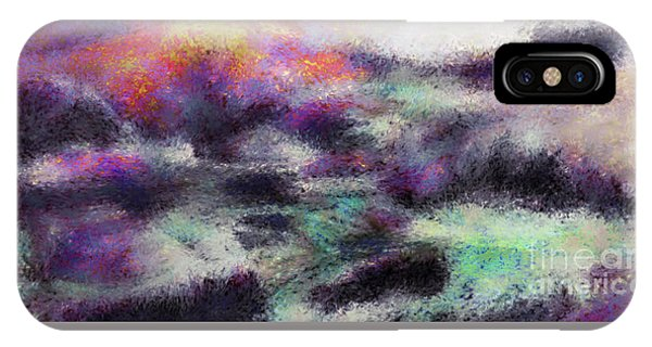Wild Path To Tranquility - Abstract Horizontal Mood Colored Oil Painting Wall Art 01 IPhone Case
