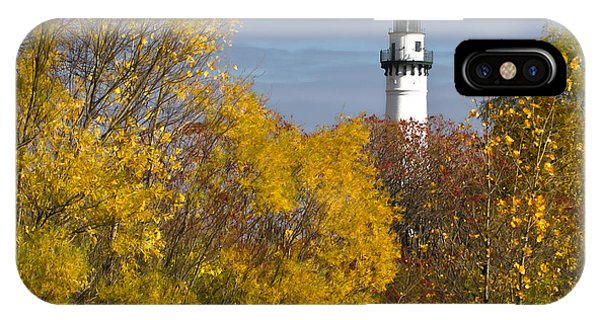 Wind Point Lighthouse In Fall IPhone Case
