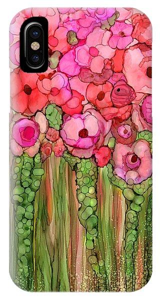 Pink Flower iPhone Case - Wild Poppy Garden - Pink by Carol Cavalaris