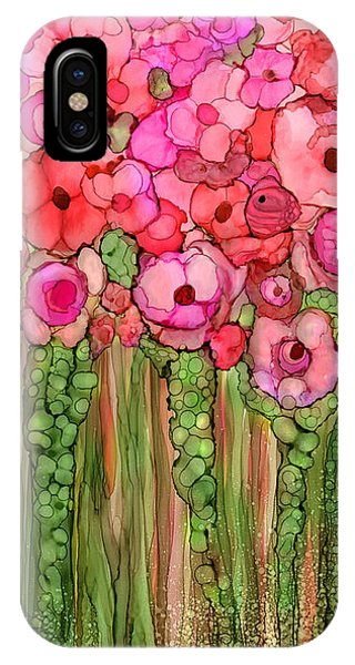 Floral iPhone Case - Wild Poppy Garden - Pink by Carol Cavalaris