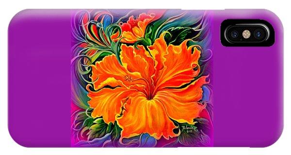 Wild Purple Hibiscus IPhone Case