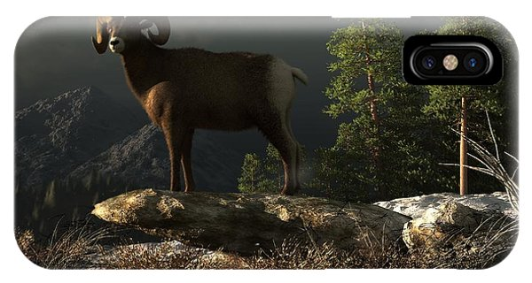 Rocky Mountain Bighorn Sheep iPhone Case - Wild Ram by Daniel Eskridge