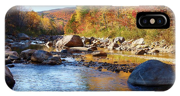 Wild River View Of Scenic Maine Colors IPhone Case