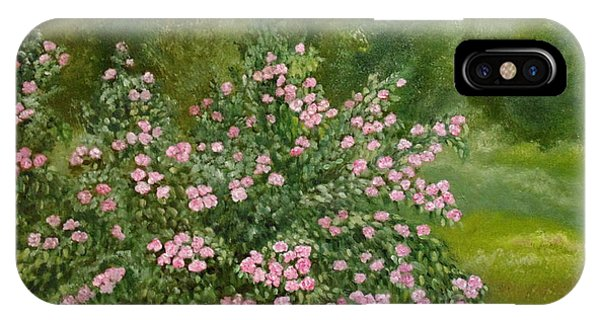IPhone Case featuring the painting Wild Roses by Angeles M Pomata