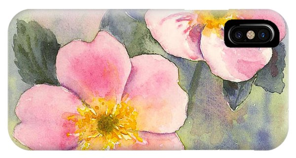 Wild Roses - Glacier IPhone Case