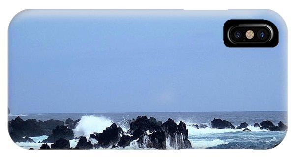 Wild Sea In Madeira IPhone Case