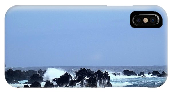 Wild Sea In Madeira IPhone Case