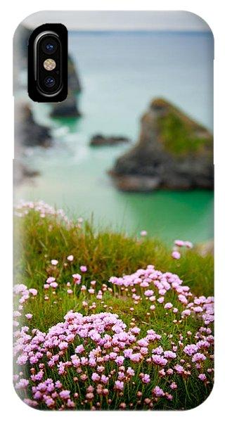 Wild Sea Pinks In Cornwall IPhone Case