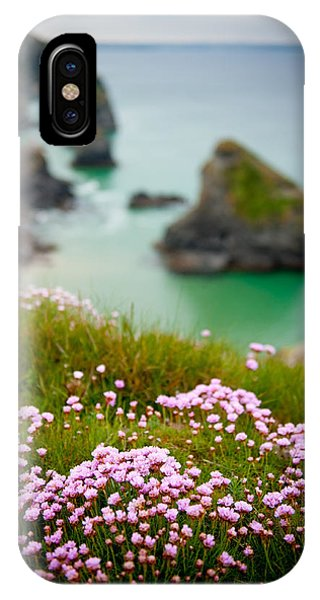 Wild Sea Pinks In Cornwall IPhone Case