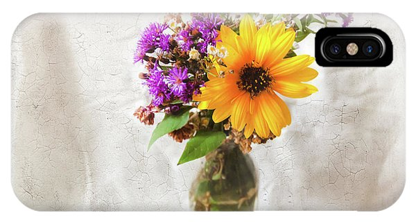IPhone Case featuring the photograph Wild Sunflower And Wildflowers Still Life by Anna Louise