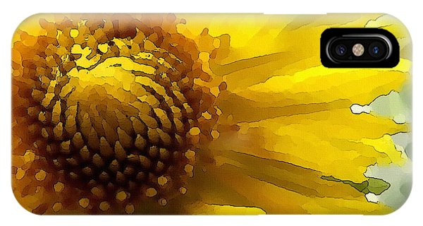 Wild Sunflower Up Close IPhone Case